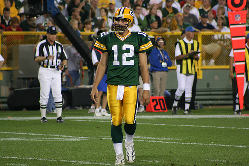 Aaron Rogers, Starting QB for the Green Bay Packers