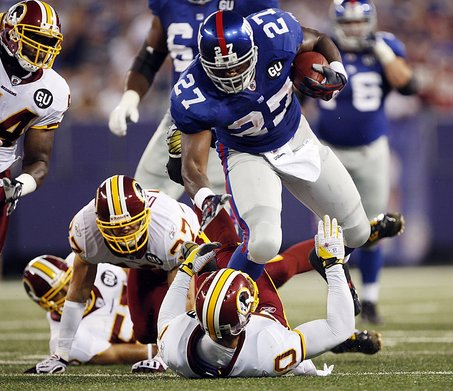 Brandon Jacobs as made an event out of crushing Redskins.