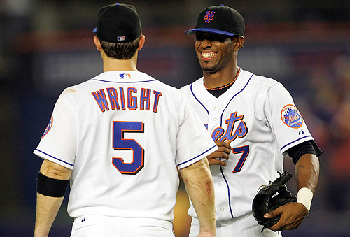 David Wright and Jose Reyes of the New York Mets