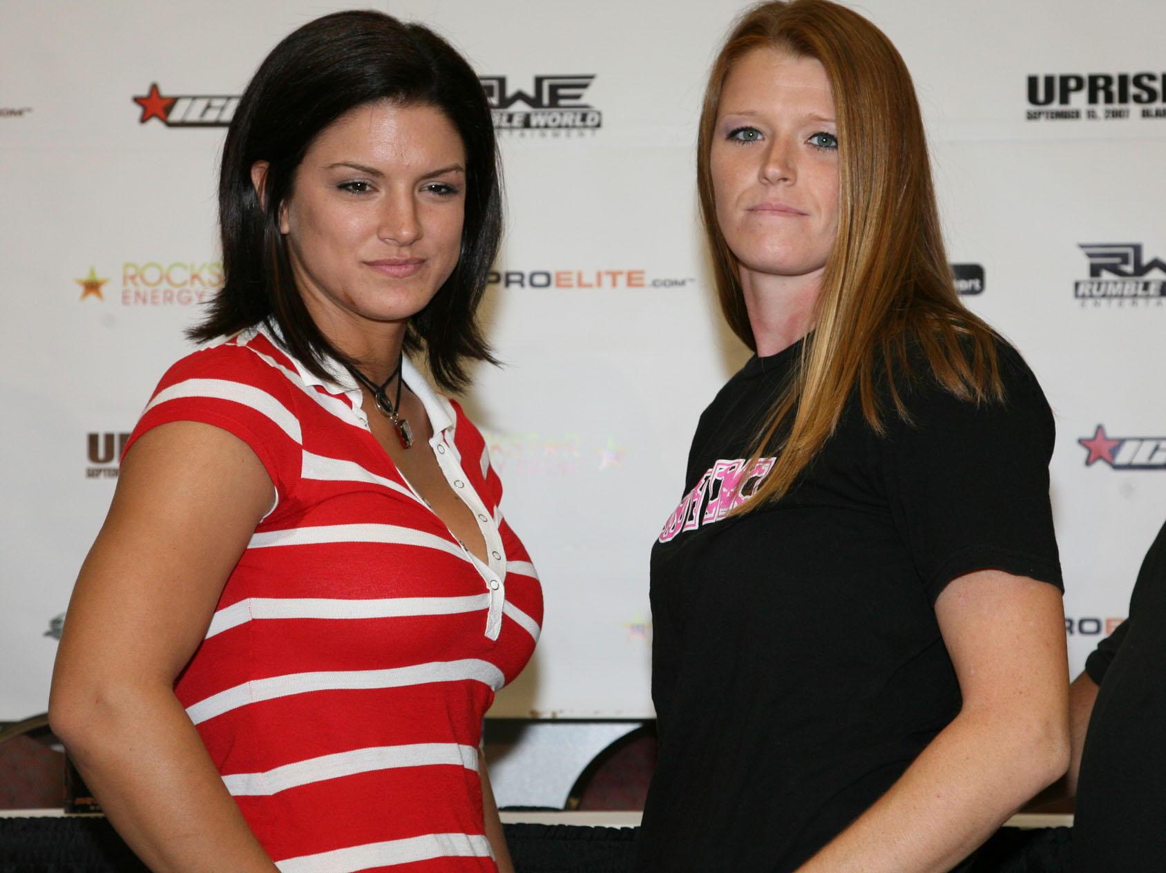 Gina Carano (Left)