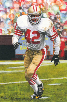 Ronnie Lott's career should be tought to children in school. His dedication to winning and to his team, should be admired and emulated by today's players.