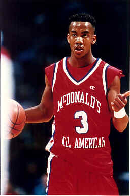 Stephon Marbury playing in the Mcdonalds HS All-American game