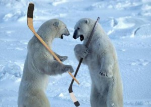 polar bear hockey 300x213 Rutuu Bites, Wild Patient, Caps Finish