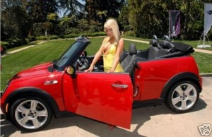 sara jean underwood car 21 300x194 Playmate of the Year, Sara Jean Underwood is selling her 2007 Mini Cooper S on ebay!