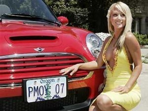 sara jean underwood car 3 300x225 Playmate of the Year, Sara Jean Underwood is selling her 2007 Mini Cooper S on ebay!