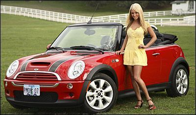sara jean underwood car 4 Playmate of the Year, Sara Jean Underwood is selling her 2007 Mini Cooper S on ebay!