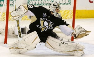 marc andre fleury glove save 300x184 Canes Beat Buzzer; Fleury Steals Show