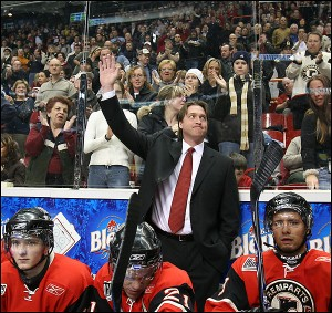 patrick roy coaching 300x283 Roy Eyes NHL Headcoaching Job