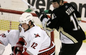 staal vs staal 300x191 Pens Canes Battle for Eastern Conference Title