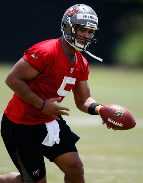 Tampa Bay Buccaneers Freeman Josh QB Josh Freeman is winning respect from Buccaneers coaching staff, and could end up the starter this year!