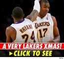 Clank clanck clank! It's the Lakers... and Santa too?